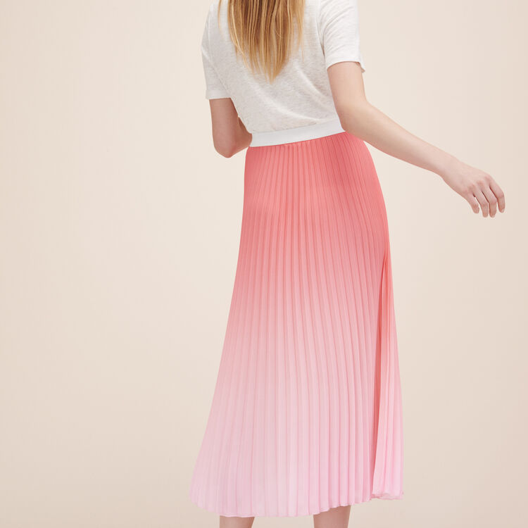 Pleated tie-dye midi skirt - Skirts & Shorts - MAJE