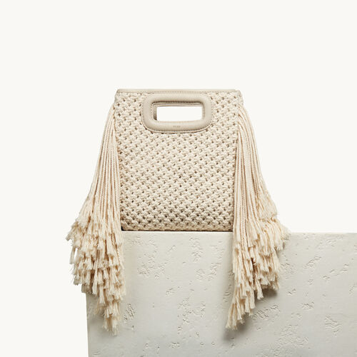 M bag in knitted cotton - Shoes & Accessories - MAJE