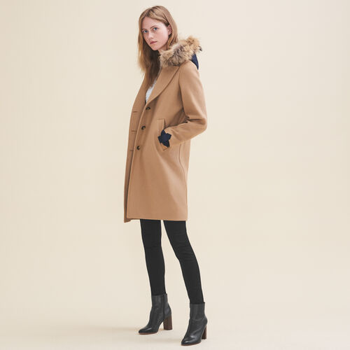 Long coat in wool and cashmere - Coats & Jackets - MAJE