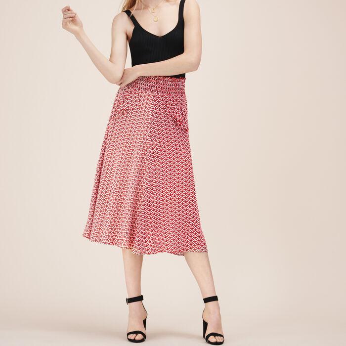 Printed midi skirt -  - MAJE