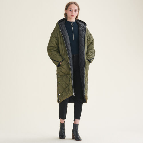 Long reversible down jacket - Coats & Jackets - MAJE