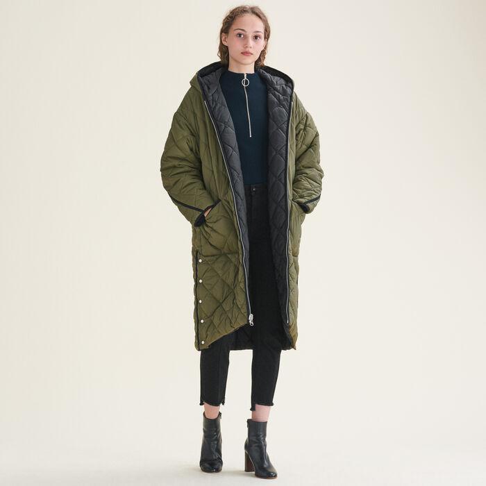 Long checked coat - Coats & Jackets - MAJE