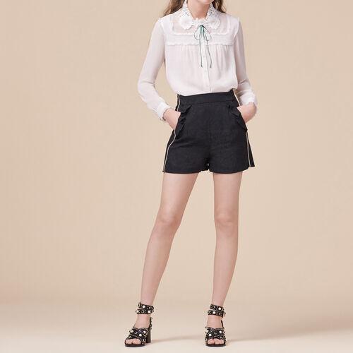 Shorts with brocade print - Skirts & Shorts - MAJE