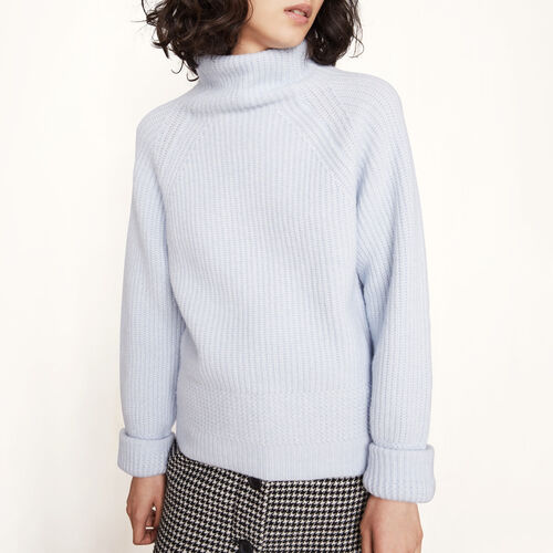 Knitted roll-neck jumper - Sweaters - MAJE
