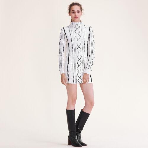 Cable knit dress - Dresses - MAJE
