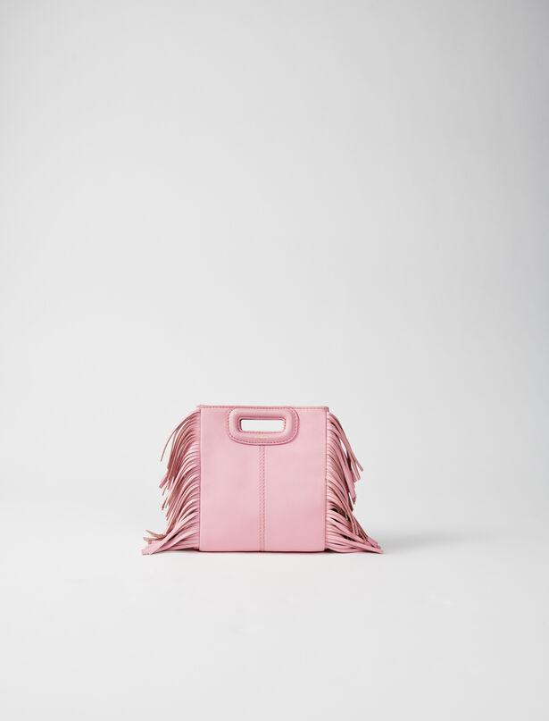 마쥬 M백 미니 MAJE 220MMINICHAINLEATHER Leather mini M bag with chain,Pink