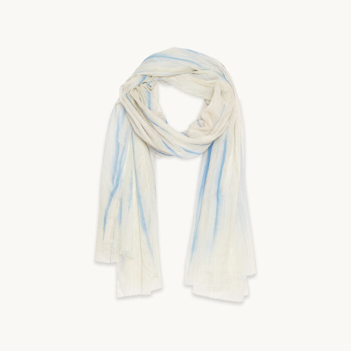 Printed cotton stole - Shoes & Accessories - MAJE