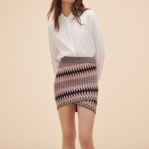 Short jacquard skirt - Skirts & Shorts - MAJE