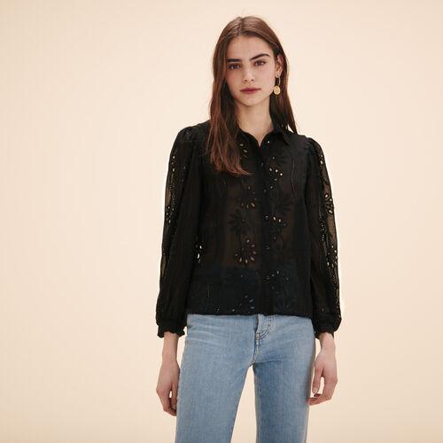 Lace shirt - Tops & Shirts - MAJE