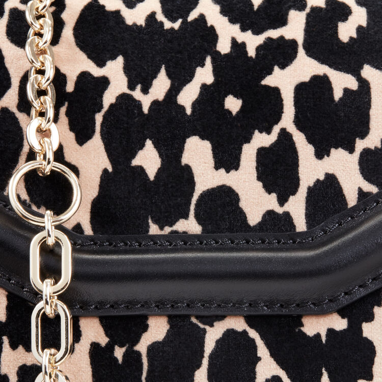 Leopard print evening bag -  - MAJE