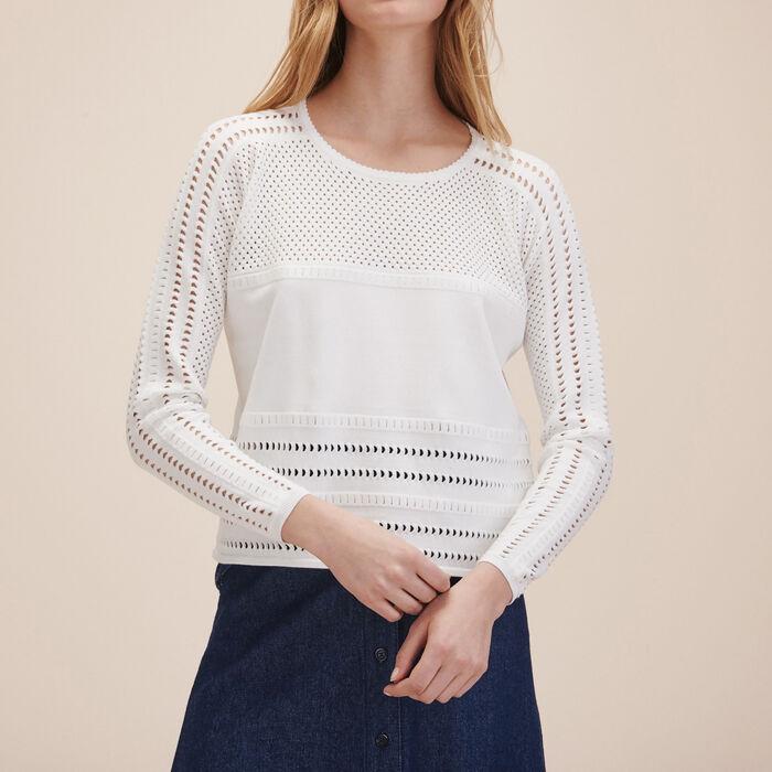 Openwork knit jumper - Sweaters - MAJE