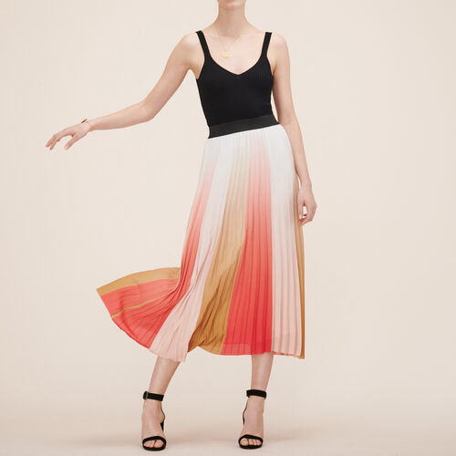 Pleated long skirt - Skirts & Shorts - MAJE