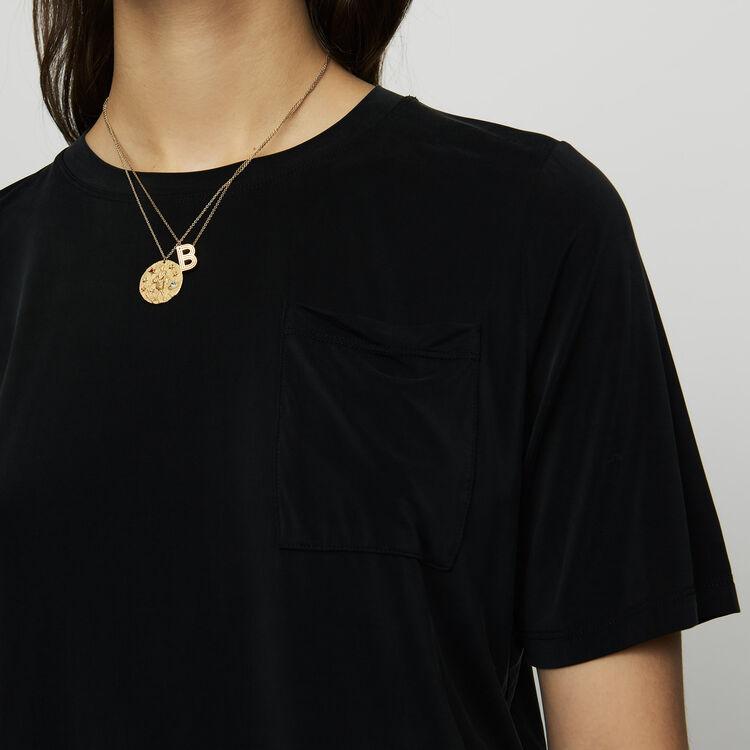 Cupro T-shirt - Tops & T-Shirts - MAJE