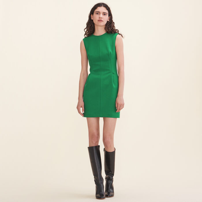 Crêpe sleeveless dress -  - MAJE