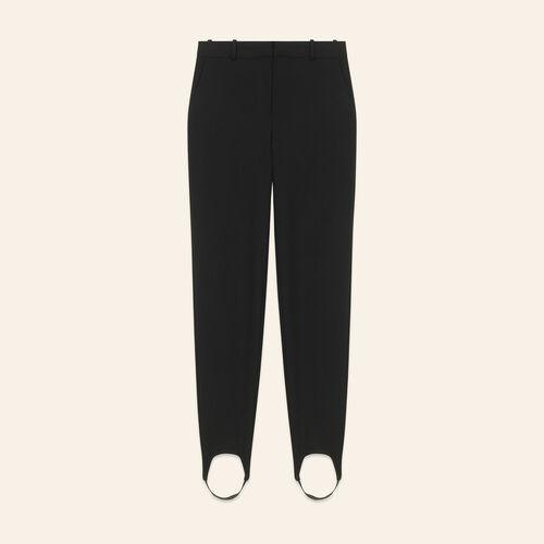 Straight-cut crepe stirrup trousers - Pants & Jeans - MAJE