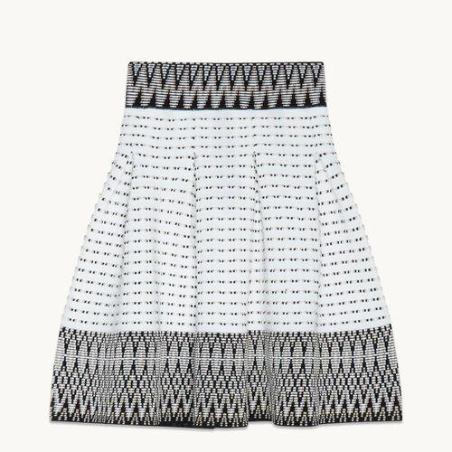 Jacquard knit puffball skirt - Skirts & Shorts - MAJE