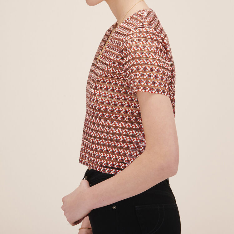 Top with elasticated bands - Tops & Shirts - MAJE