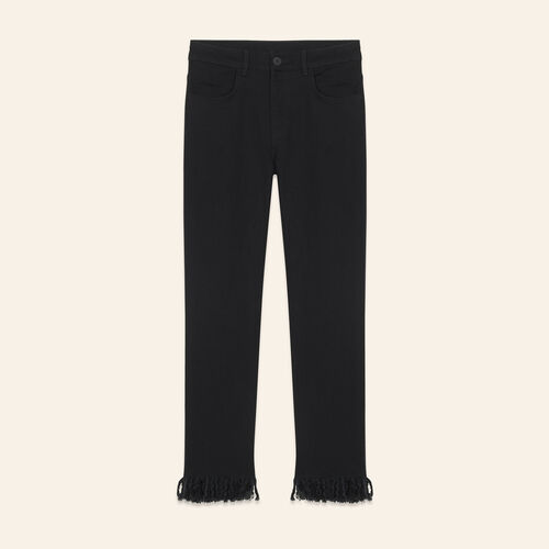Straight-cut fringed jeans - Pants & Jeans - MAJE
