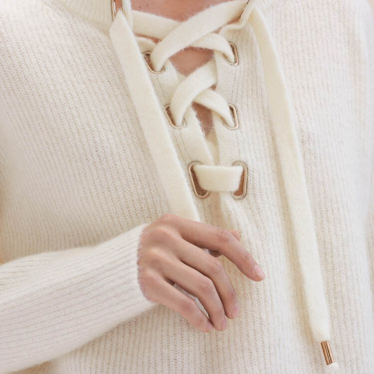 Loose mohair jumper - Sweaters - MAJE