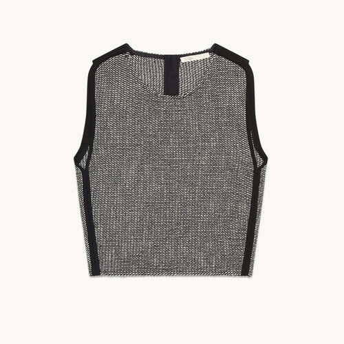 Jacquard crop top - Tops & Shirts - MAJE