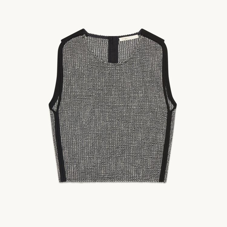 Jacquard crop top - Tops & Shirts - MAJE
