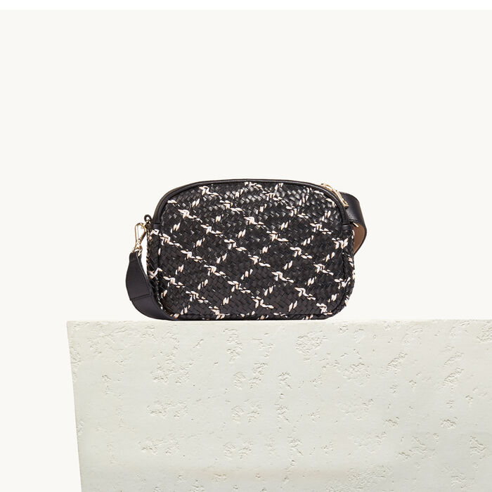 Round bag with braiding -  - MAJE
