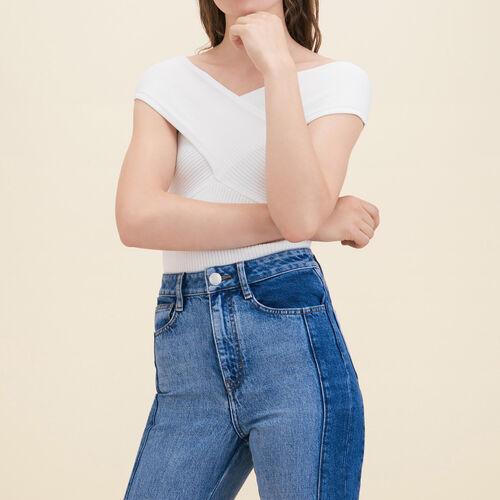 Ribbed knit sleeveless top - Sweaters - MAJE