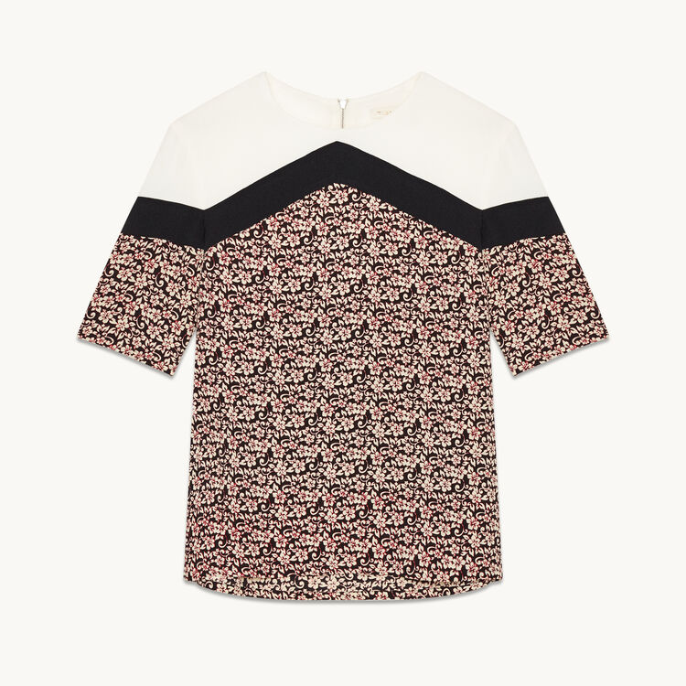 Printed tricolour top - Tops & Shirts - MAJE