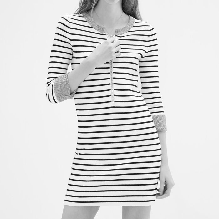 Breton knitted dress -  - MAJE