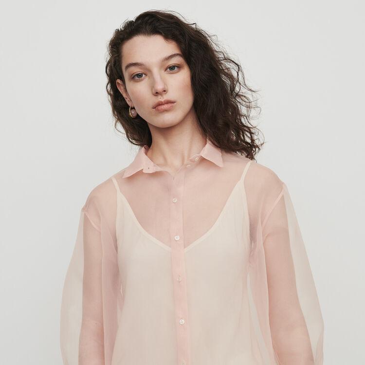마쥬 CLOANE 오간자 스타일 셔츠 MAJE CLOANE Organza-style shirt,Mandarine