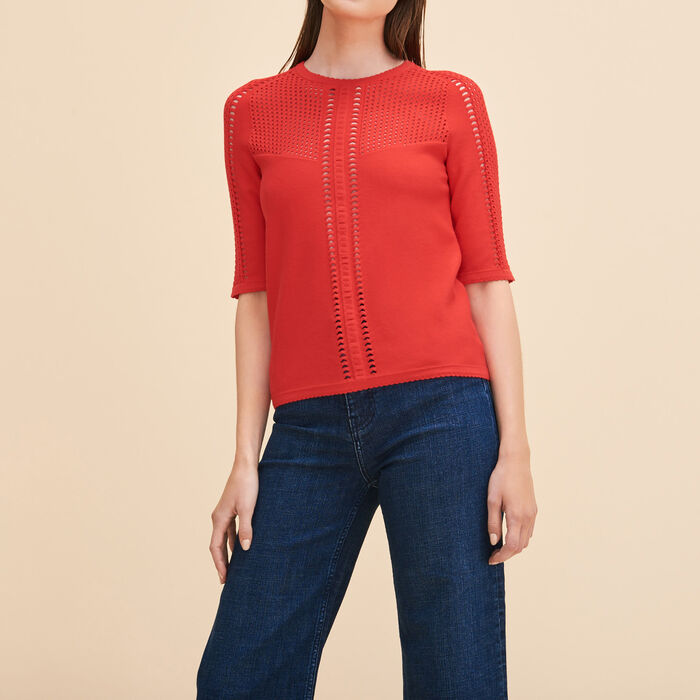 Locknit jumper with openwork -  - MAJE