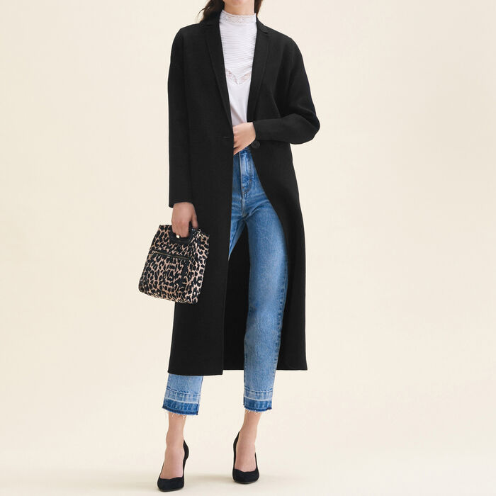 Long double-sided wool coat - Coats & Jackets - MAJE
