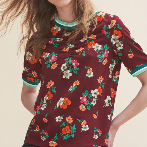 Flowing top with a retro print - Tops & T-Shirts - MAJE