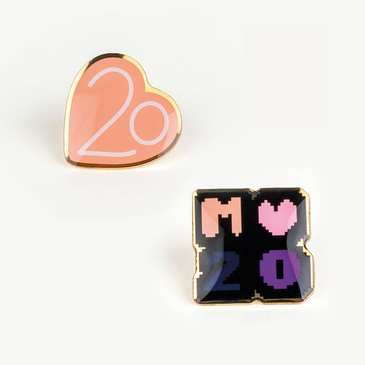마쥬 MAJE 8PINS1 Pin Badges X 20 years,Multico