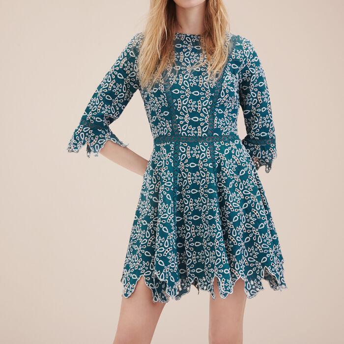 Short guipure dress - Dresses - MAJE