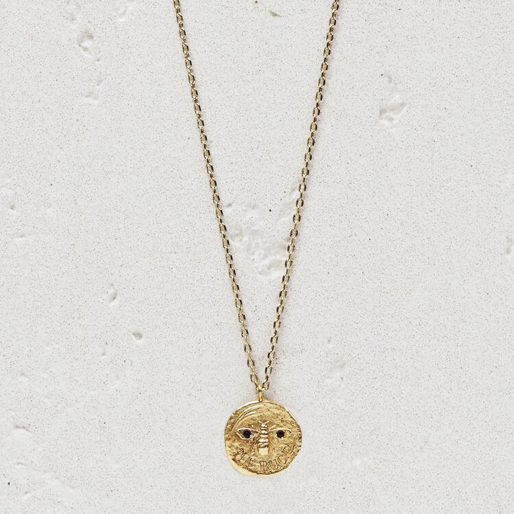 마쥬 NPUCE 목걸이 MAJE NPUCE Necklace Ma puce in gold plated,GOLD