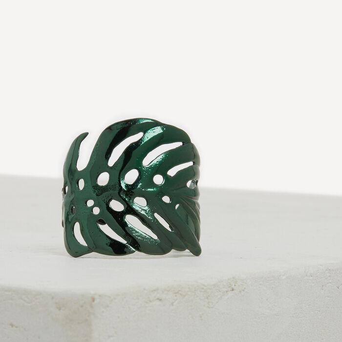 Leaf-shaped cuff - Jewelry - MAJE