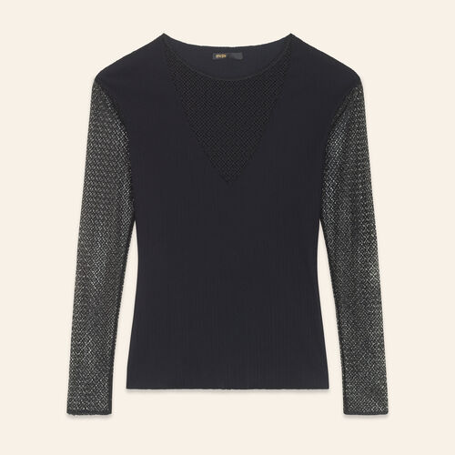 Openwork knit top - Sweaters - MAJE