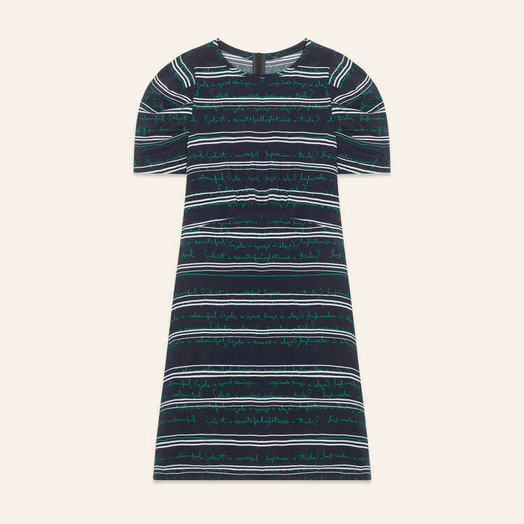 Short dress with all-over lettering - Dresses - MAJE