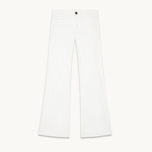 Flared stretch cotton jeans - Pants & Jeans - MAJE