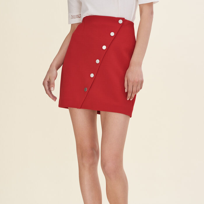 Short skirt with press studs -  - MAJE