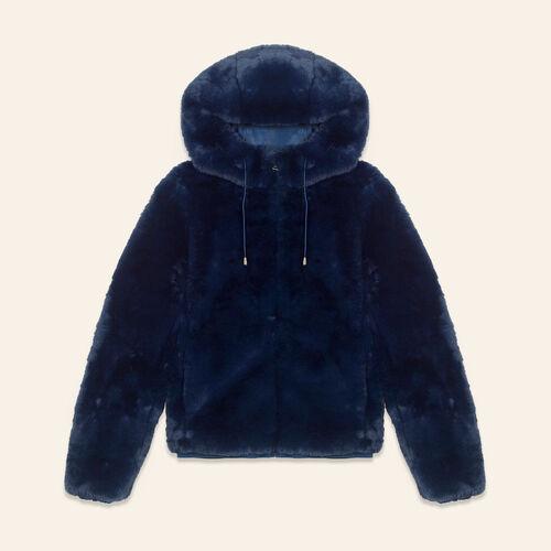 Cropped faux fur jacket - Coats & Jackets - MAJE