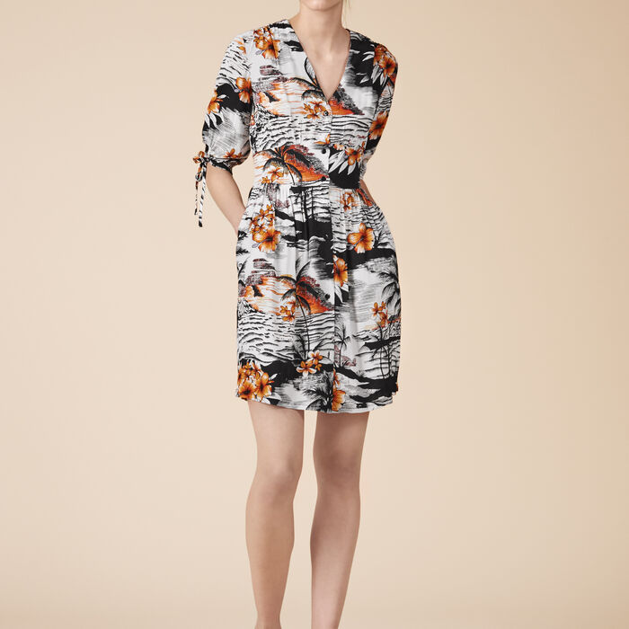 Floaty printed dress - Dresses - MAJE