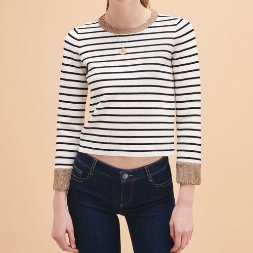 Breton knitted jumper - Sweaters - MAJE