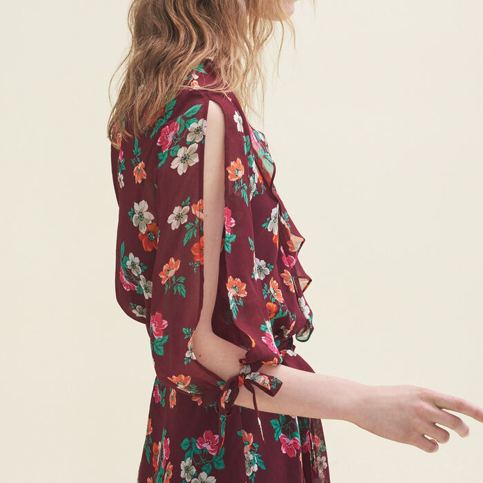 Printed chiffon dress - Dresses - MAJE