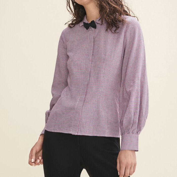Micro-checked shirt -  - MAJE