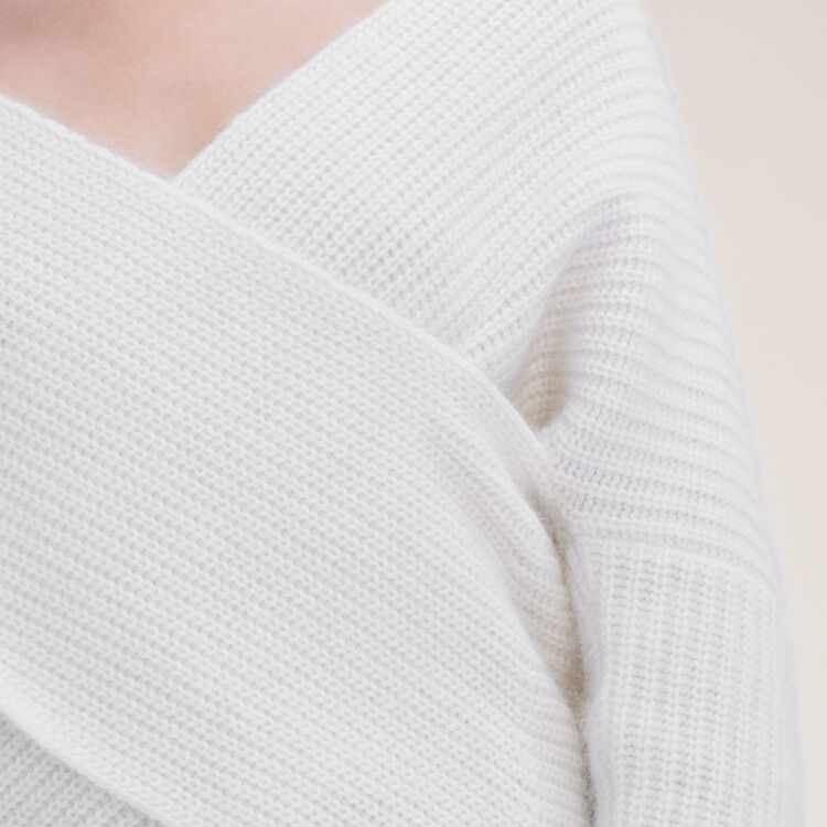 Knitted wrap front jumper - Sweaters - MAJE