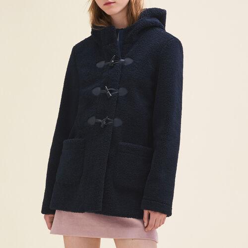 Faux fur duffle coat - Coats & Jackets - MAJE