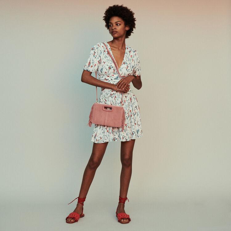 마쥬RASION 미니 원피스 (신예은 착용) MAJE RASION Short printed dress with jewel,PRINTED