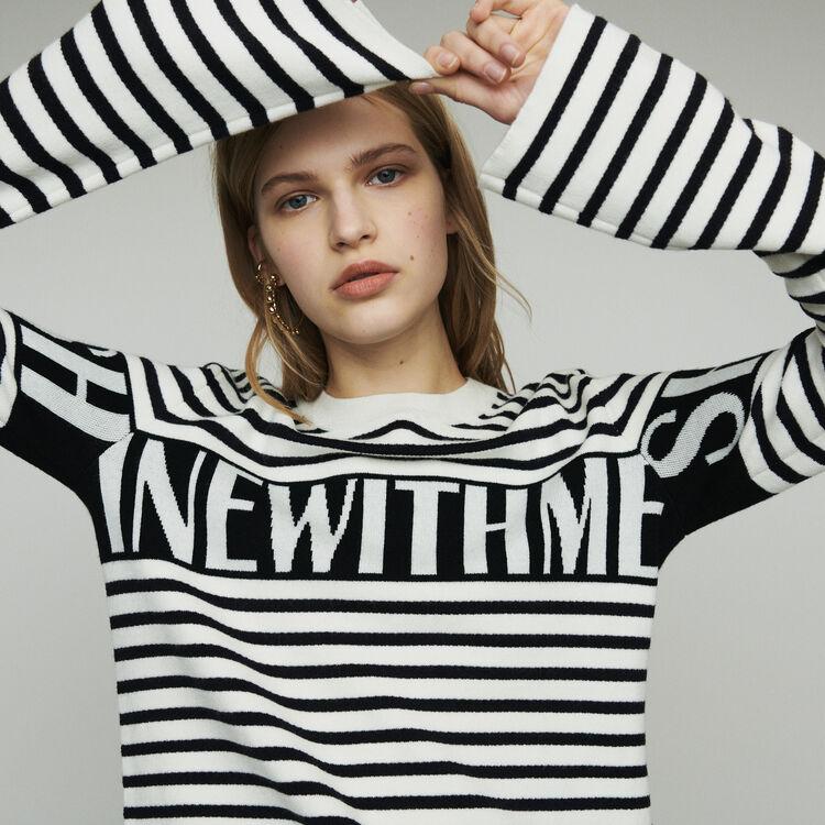 마쥬 MINOTORA 스트라이프 스웨터 MAJE MINOTORA Striped sailor sweater,Ecru